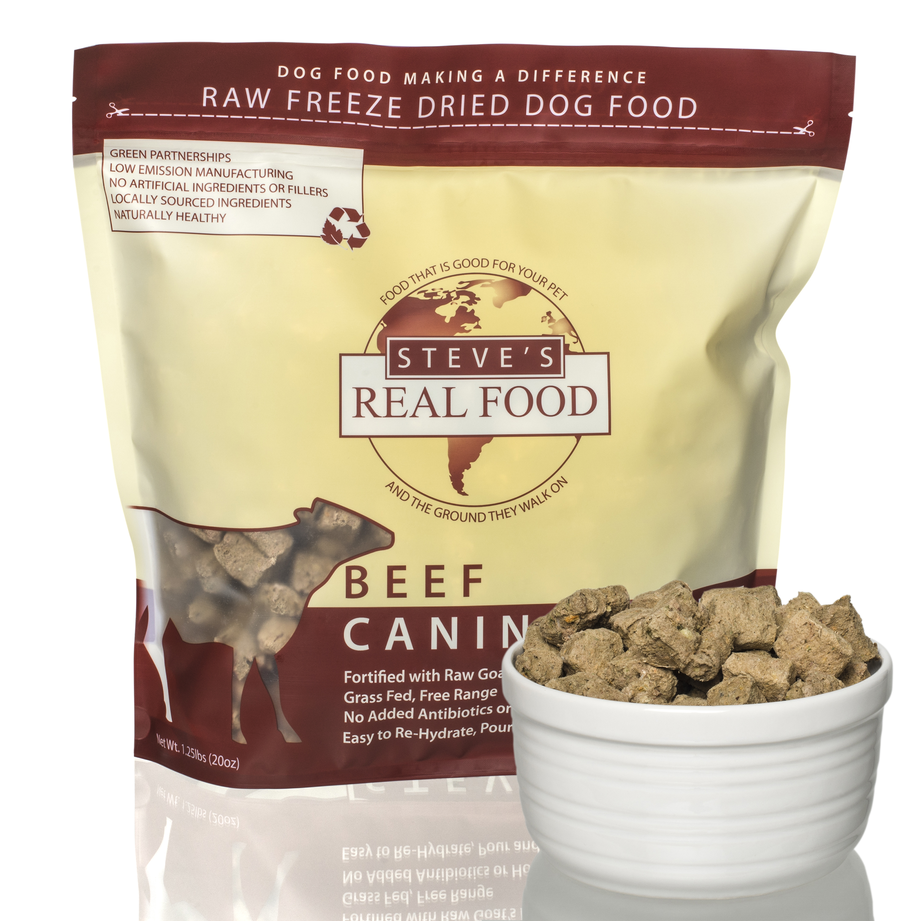 Steve's FZD Nuggets Beef Diet for Dogs - 20oz